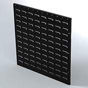 "Valley Craft Louvered Panel F85225A5 - Flanged 24""W x 24""H, Black, Price Per Pack of 2"