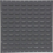"Valley Craft Louvered Panel F85227A3 - Flat 24""W x 24""H, Black, Price Per Pack of 2"