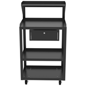 Vari-Tuff 4-Shelf Shop Desk with locking drawer