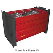 "8-Drawer Kit for 48"" Cabinet With 18"" Shelves"