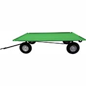 Valley Craft® Light Duty Trailer F89307 - 72 x 48 Lip Up Deck - Pneumatic Wheel - Ring & Pintle