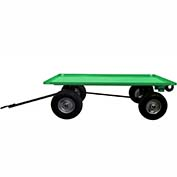 Valley Craft® Light Duty Trailer F89311 - 60 x 36 Lip Up Deck - Pneumatic Wheels -Ring & Pintle
