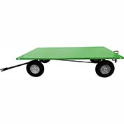 Valley Craft® Light Duty Trailer F89317 - 72 x 48 Flush Deck - Pneumatic Wheels - Pin & Clevis