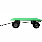 Valley Craft® Light Duty Trailer F89320 - 60 x 36 Flush Deck - Pneumatic Wheels - Ring & Pintle
