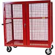 "Valley Craft® F89557R Security Truck 48""L x 24""W x 66""H, Red"