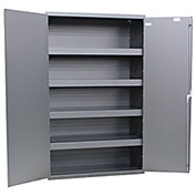 "Valley Craft, Heavy Duty All-Welded Steel Cabinet, 48""W x 24""D x 78""H,  Smoke Gray"