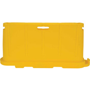 "Vestil Stackable Safety Poly Barricade, 76-1/2""L, Yellow"