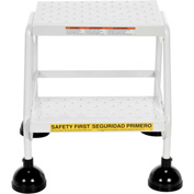 Commercial Rolling Ladder - Perforated - LAD-2-W-P