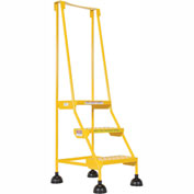 Commercial Rolling Ladder - Perforated - LAD-3-Y-P