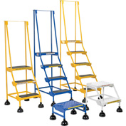 Commercial Rolling Ladder - Perforated - LAD-4-B-P