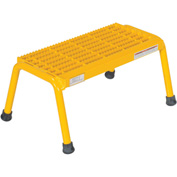 Vestil Aluminum Yellow Step Stand - 1 Step Welded - SSA-1-Y