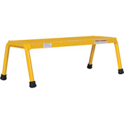 Vestil Aluminum Yellow Wide Step Stand - 1 Step Welded - SSA-1W-Y
