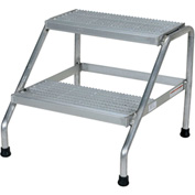 Aluminum Step Stand - 2 Step - Welded - SSA-2