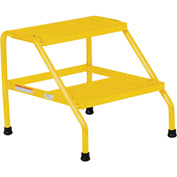 Vestil Aluminum Yellow Step Stand - 3 Step - SSA-3-KD-Y