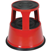 Rolling Step Stool - Red