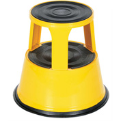Rolling Step Stool - Yellow - STEP-17-Y