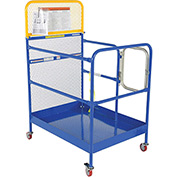 "Work Platform - Single Side Door Entry with Casters - 36""W x 48""L"