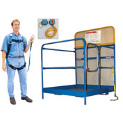 "Work Platform - Single Side Door Entry - Full Featured - 48""W x 48""L"