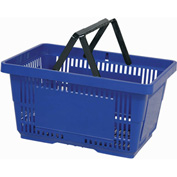 VersaCart® Plastic Shopping Basket 28 Liter with Nylon Handle 206-28L - Dark Blue - Pkg Qty 12