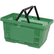 VersaCart® Plastic Shopping Basket 28 Liter with Nylon Handle 206-28L - Lt Green - Pkg Qty 12