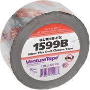 3M™ VentureTape UL181B-FX FlexDuct Tape, 2 IN x 120 Yards, Sliver, 1599B-G669