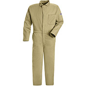 EXCEL FR® Flame Resistant Classic Coverall CEC2, Khaki, Size 38 Regular