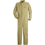 EXCEL FR® Flame Resistant Deluxe Coverall CED2, Khaki, Size 50 Regular