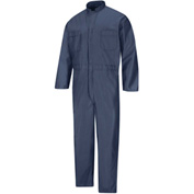 Red Kap® ESD/Anti-Static Operations Coverall, Navy, Polyester/Nylon, Regular, L