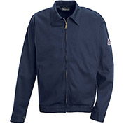 EXCEL FR® Flame Resistant Zip-In / Zip-Out Jacket JEW2, Navy, Size L Long