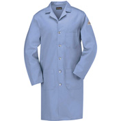 Bulwark® Unisex Excel Flame-Resistant Lab Coat, 7 oz., Light Blue, Cotton, XS