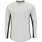 EXCEL FR® Flame Resistant Long Sleeve FR Two-Tone Base Layer MPU8, Gray, Size 5XL Regular