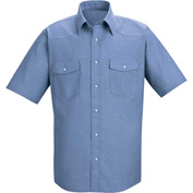 Red Kap® Men's Short Sleeve Deluxe Western Style Shirt S SC24-SC24LBSSS