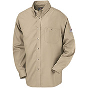 EXCEL FR® Flame Resistant Dress Shirt SEG6, Khaki, 5.25 oz., Size XXL Regular