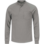 CoolTouch® 2 Flame Resistant Long Sleeve Henley Shirt SML2, Gray, Size L Regular