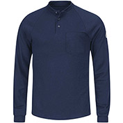 CoolTouch® 2 Flame Resistant Long Sleeve Henley Shirt SML2, Navy, Size M Regular