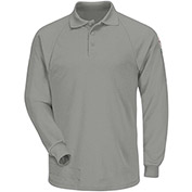 CoolTouch® 2 Flame Resistant Classic Long Sleeve Polo SMP2, Gray, 6.5 oz., Size M Regular