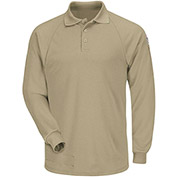 CoolTouch® 2 Flame Resistant Classic Long Sleeve Polo SMP2, Khaki, 6.5 oz., Size M Regular