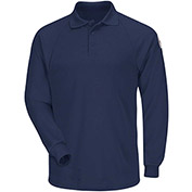 CoolTouch® 2 Flame Resistant Classic Long Sleeve Polo SMP2, Navy, 6.5 oz., Size M Regular