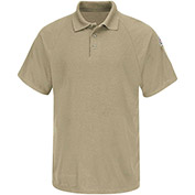CoolTouch® 2 Flame Resistant Classic Short Sleeve Polo SMP8, Khaki, 6.5 oz., Size L