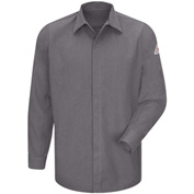 CoolTouch® 2 Flame Resistant Concealed-Gripper Pocketless Shirt SMS2, Gray, Size XL Long