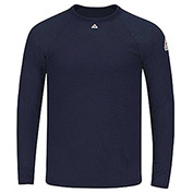 Power Dry® FR Long Sleeve Tagless T-Shirt SMT4, Navy, Size L Regular
