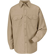 CoolTouch® 2 Flame Resistant Uniform Shirt SMU4, Khaki, 5.8 oz., Size L Regular