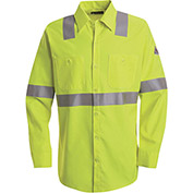 CoolTouch® 2 Hi-Visibility Flame Resistant Work Shirt SMW4, Yellow/Green, 7 oz., Size XL Reg