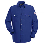 Nomex® IIIA Flame Resistant Snap-Front Uniform Shirt SNS2, Royal Blue, 4.5 oz, Size S Regular