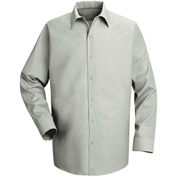Red Kap® Men's Specialized Pocketless Polyester Work Shirt Long Sleeve Light Gray Reg-L SP16