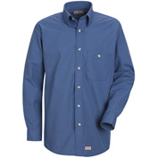 Red Kap® Men's Mini-Plaid Uniform Shirt Long Sleeve Gray/Blue 3XL-345 SP74