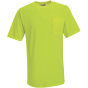 Red Kap® Enhanced Visibility Short Sleeve T-Shirt, Yellow/Green, Polyester, L