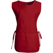 Chef Designs Cobbler Apron, Red, Polyester/Cotton, L