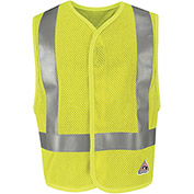 Hi-Visibility Flame Resistant Mesh Safety Vest VMV8, ANSI Class 2, Yellow/Green, Size 4XL/5XL