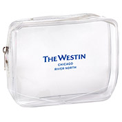 Promotional Saraque Clear Amenity Bag